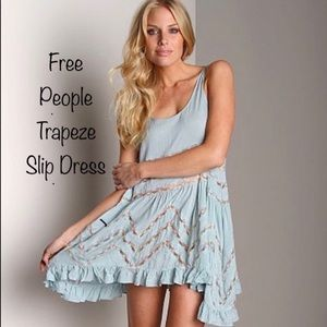 Free People Voile Lace Trapeze slip dress Sz Small